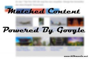 Cara Mendapatkan Matched Content