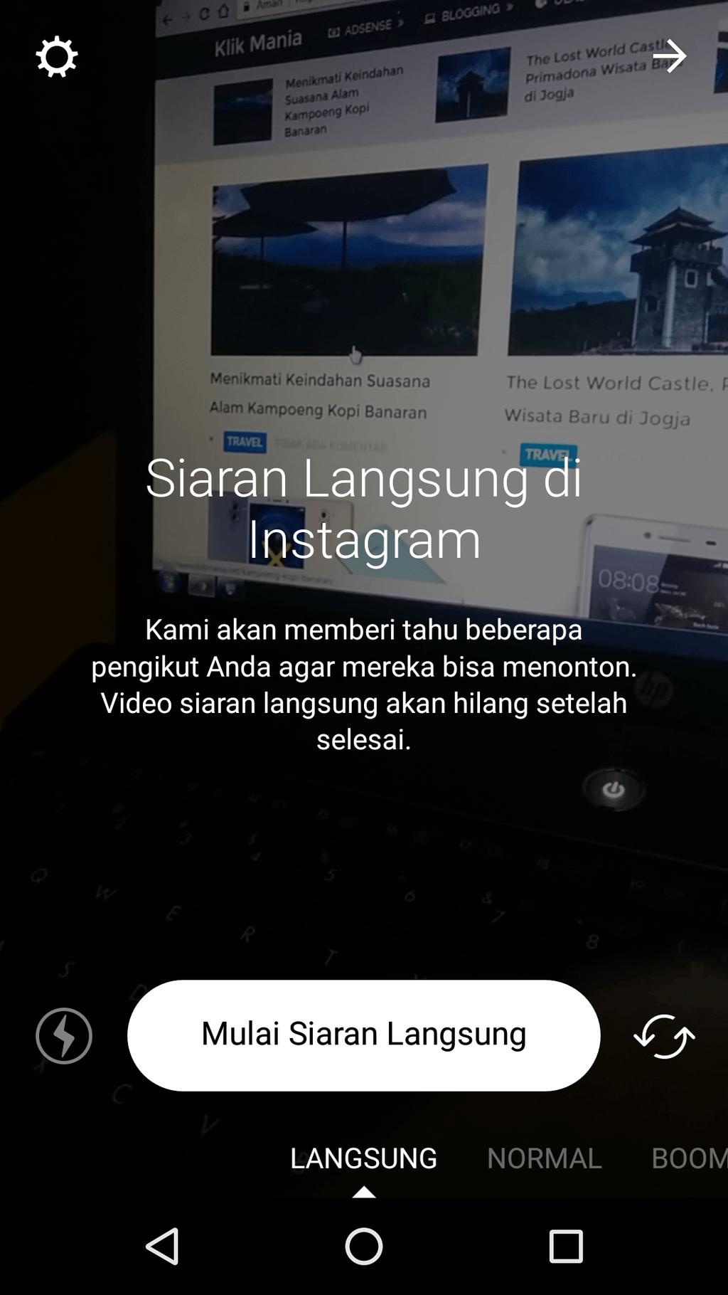 Live Video di Instagram