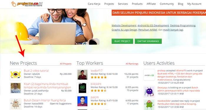 mencari freelancer