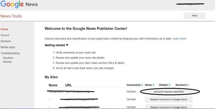 Mendaftar Google News