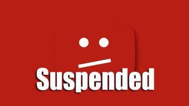youtube kena suspend