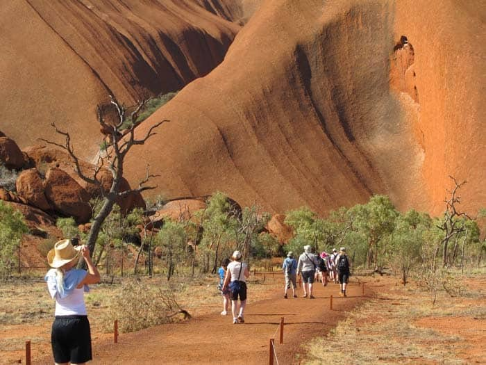 Entering Uluru