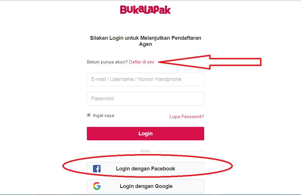 Cara daftar di Toko Online Bukalapak
