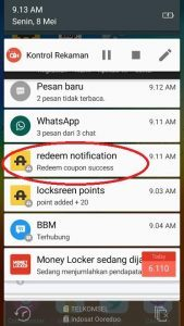 Redeem Pang android sukses
