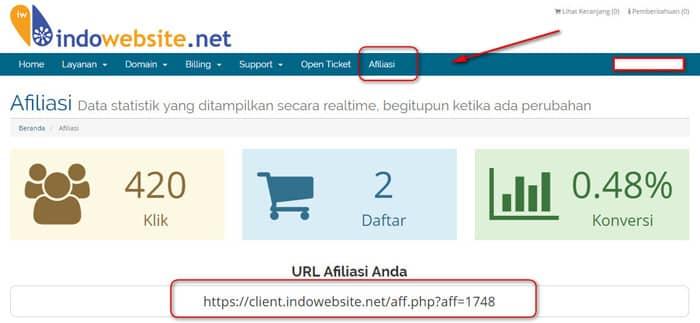 affiliate di Indowebsite