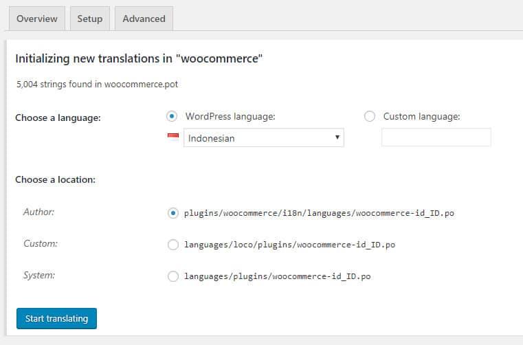 Translate Woocommerce ke Bahasa Indonesia