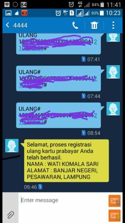Peraturan Registrasi kartu SIM