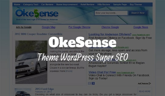 okesense theme wordpress