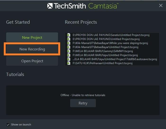 Fitur Screen Recording Camtasia