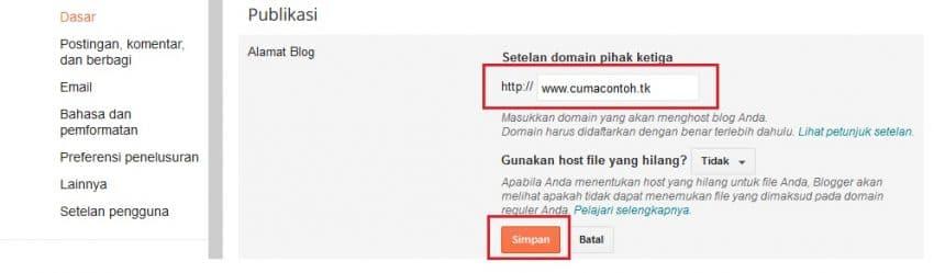 Mendapatkan Domain TLD Gratis