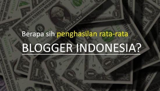 Penghasilan blogger indonesia