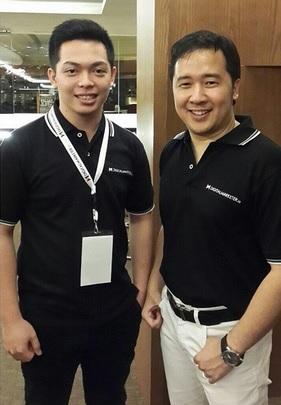 Rico Huang bersama Denny Santoso