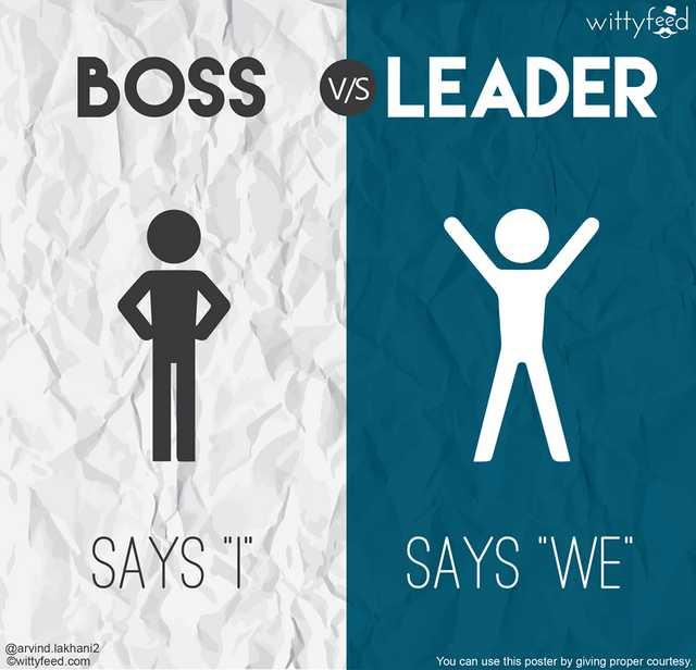 Beda pemimpin dan bos