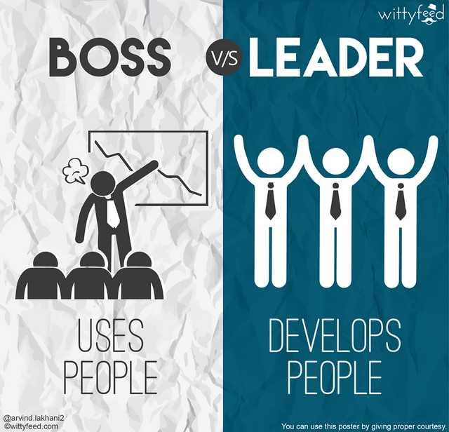 pemimpin dan bos