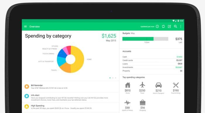 Aplikasi pengatur keuangan Mint