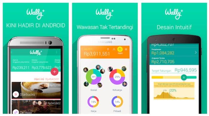 Aplikasi pengatur keuangan Wally