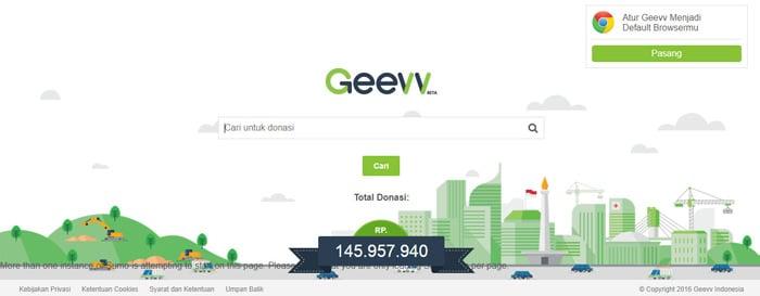 Brosing sembari beramal di mesin pencari Geevv