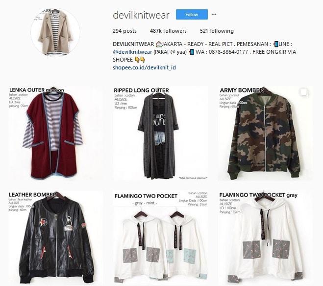 Online Shop Omzet Milyaran - devilknitwear