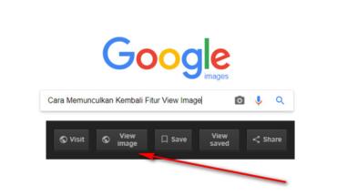 Cara Memunculkan Kembali Fitur View Image