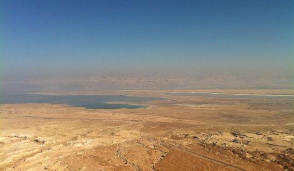 Laut Mati, di perbatasan Yordania dan Israel