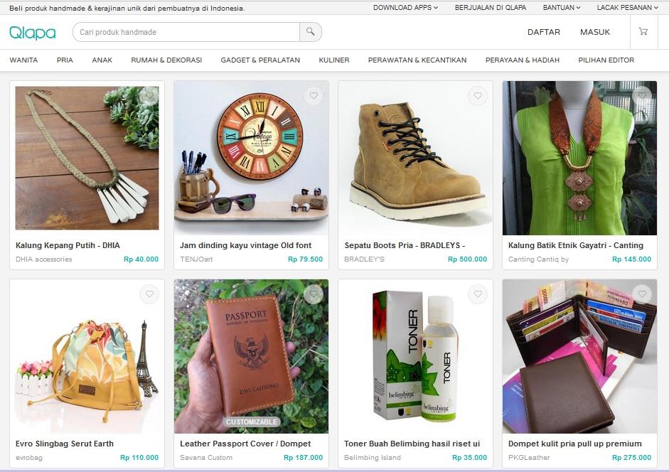Mencari Produk Handmade di Qlapa berkualitas
