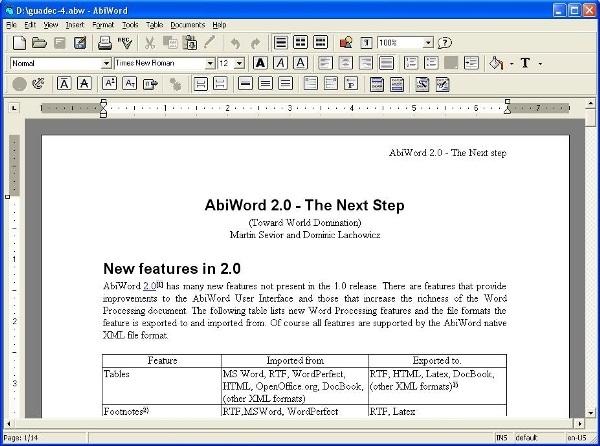 word processor gratis