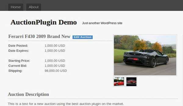 Plugin WPauction