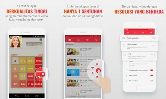 Aplikasi Perekam Layar Android - Screen RE