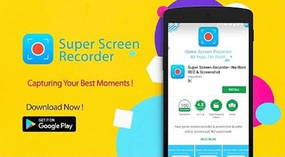 Aplikasi Perekam Layar Android - Super