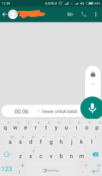 Merekam Suara di WhatsApp