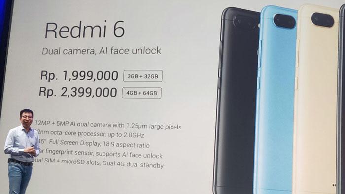 Harga Xiaomi Redmi 6 dan Redmi 6A