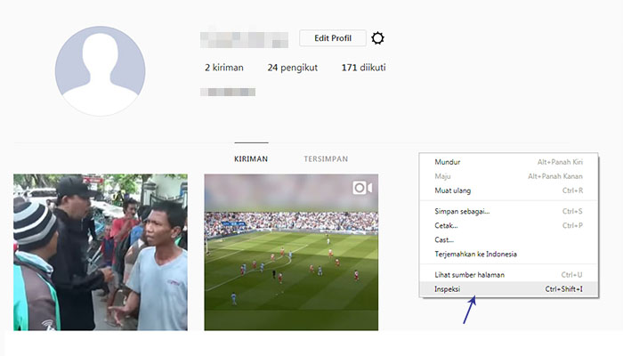 Upload Foto Instagram via Browser