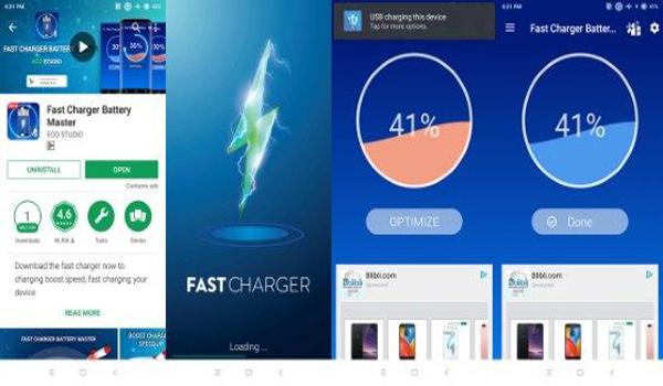 Aplikasi fitur Fast Charging Android