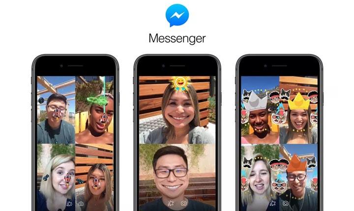 CaraMainkan Game AR di Messenger