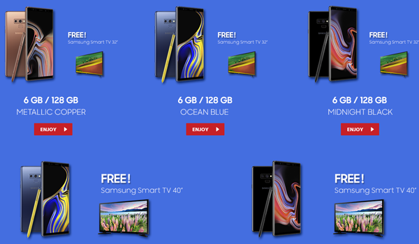 Harga Samsung Note 9