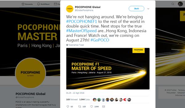 xiaomi Pocophone F1 meluncur di Indonesia