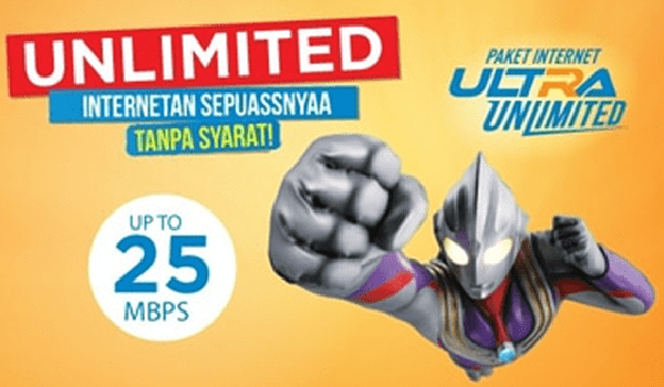 Paket Internet Unlimited september 2018