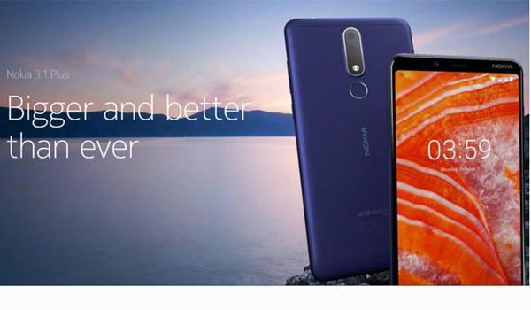spesifikasi Nokia 3.1 Plus