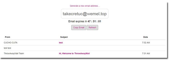 alamat email palsu