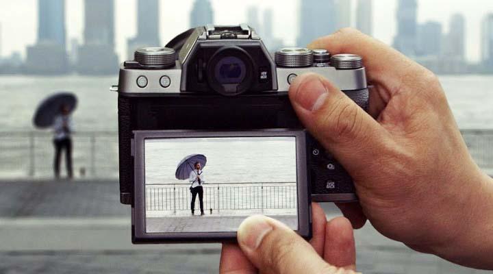Layar putar Fujifilm X-T100