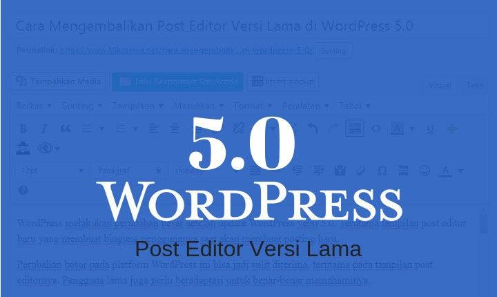 Post Editor Versi Lama