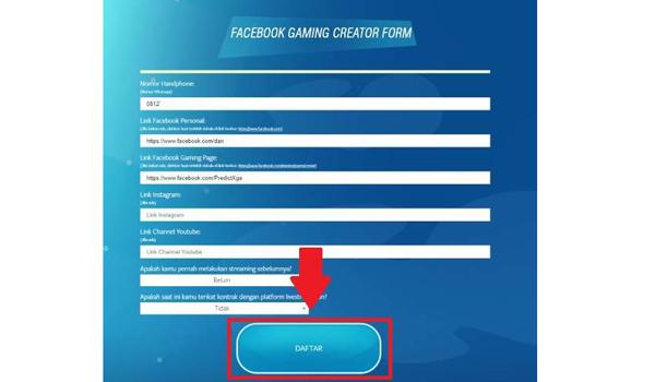 Cara Mendaftar Menjadi Facebook Gaming Creator