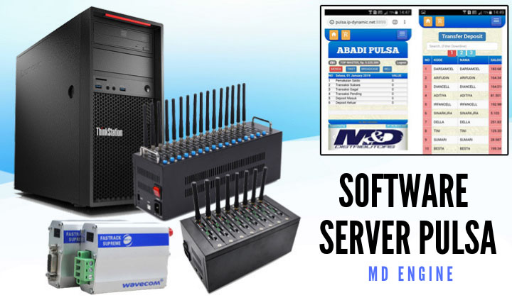 Software server pulsa MD Engine murah