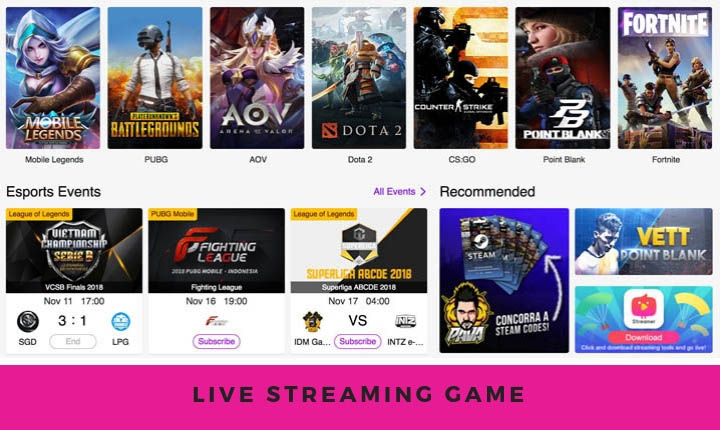 live streaming game