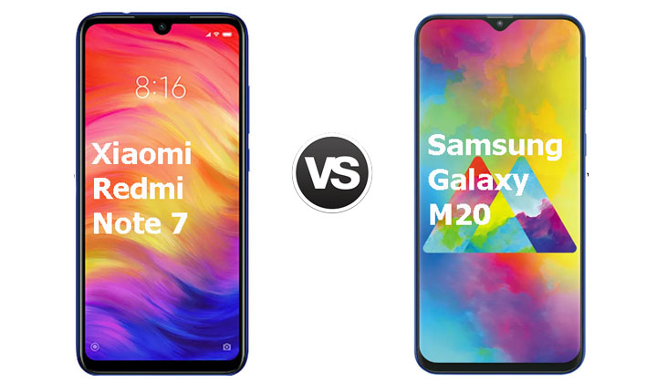 Xiaomi Redmi Note 7 vs Samsung Galaxy M20