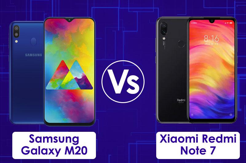 Xiaomi Redmi Note 7 vs Samsung Galaxy M20