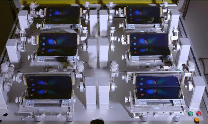 uji lipat galaxy fold