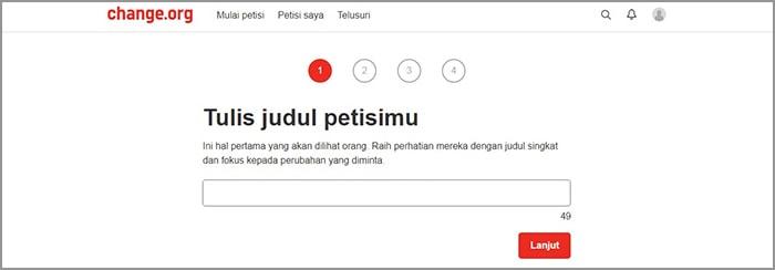 membuat petisi online gampang banget