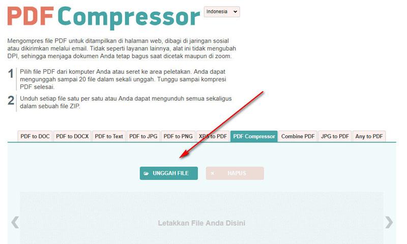 Memperkecil file PDF