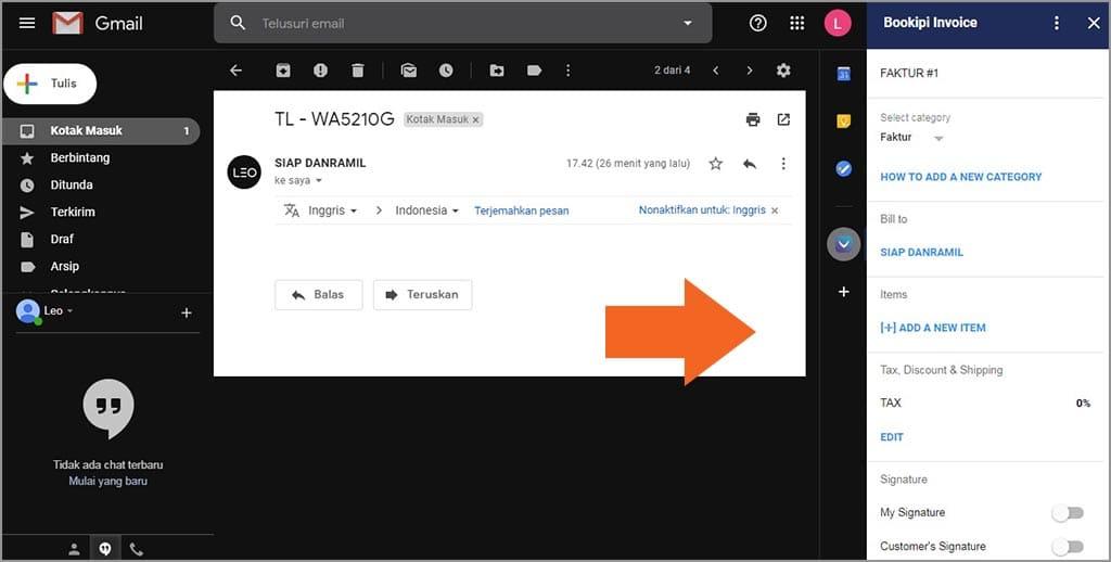 membuat invoice di gmail itu mudah